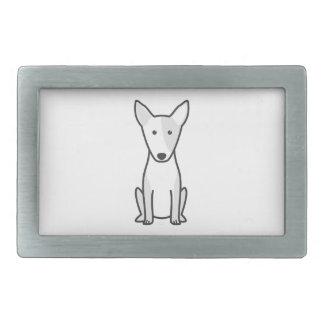 Bande dessinée miniature de chien de bull-terrier boucles de ceinture