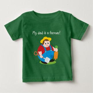 Bande dessinée moderne mignonne d'un agriculteur t-shirt pour bébé