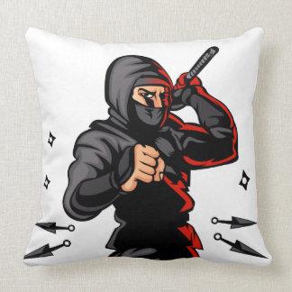 bande dessinée noire de ninja coussins carrés