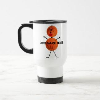Bande dessinée personnalisée de basket-ball mug de voyage