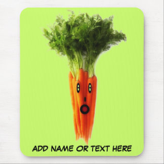 Bande dessinée personnalisée de carotte tapis de souris