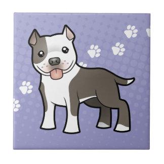 Bande dessinée Pitbull/Staffordshire Terrier Petit Carreau Carré