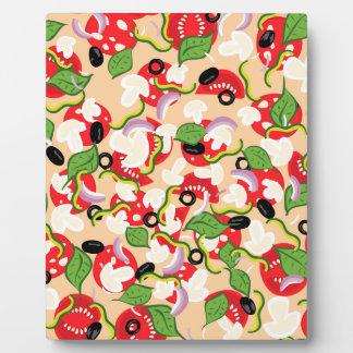 Bande dessinée Pizza2 savoureux Photos Sur Plaques