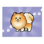 Bande dessinée Pomeranian Cartes Postales