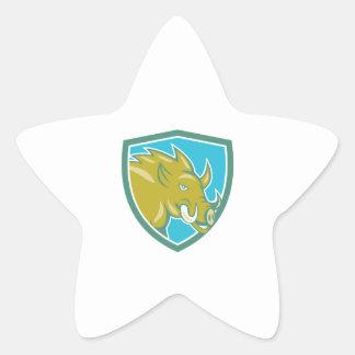 Bande dessinée principale de bouclier de charge de sticker étoile