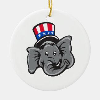 Bande dessinée républicaine de casquette supérieur ornement rond en céramique
