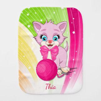 Bande dessinée rose de chaton de Cutie Linges De Bébé