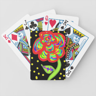 bande dessinée rose de colorfull jeux de cartes