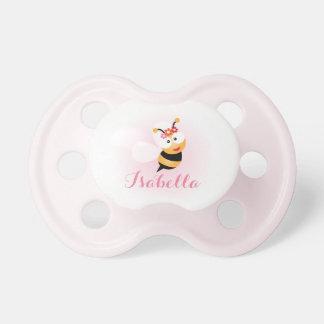 Bande dessinée rose Girly mignonne d'abeille de Tétine