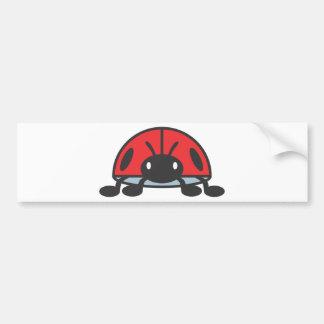 Bande dessinée rouge fraîche de coccinelle autocollant de voiture