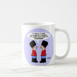 Bande dessinée russe drôle d'enfants de tsars pour mug