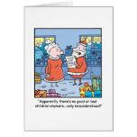 Bande dessinée Santa de Noël bonnes et mauvaise li Carte