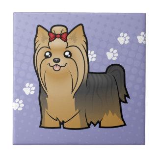 Bande dessinée Yorkshire Terrier (longs cheveux Petit Carreau Carré