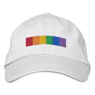 Bande gaie de drapeau de fierté d'arc-en-ciel casquette brodée