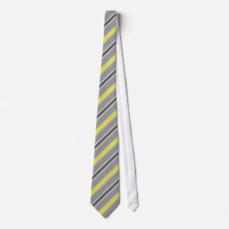 Bande gris jaune stripes gray grey yellow cravate