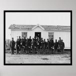 Bande militaire 1865 d'Afro-américain Poster
