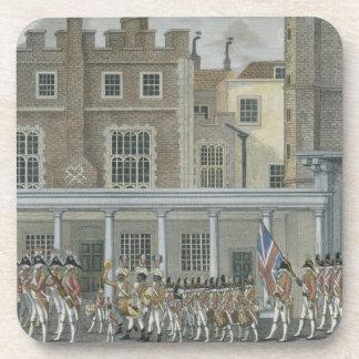 Bande militaire au palais de St James, tard 18ème  Sous-bock