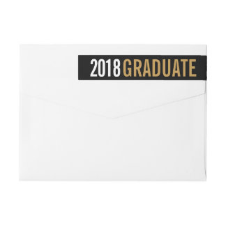 Bande Pour Adresse De Retour Adresse de retour personnalisée par diplômé