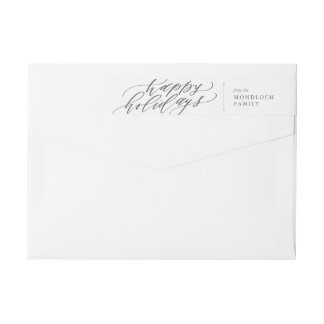 Bande Pour Adresse De Retour Bonnes fêtes enveloppe d'enveloppe de calligraphie