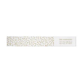Bande Pour Adresse De Retour Confettis élégants d'or