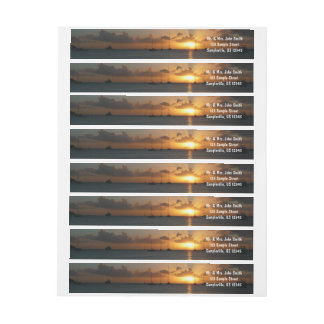 Bande Pour Adresse De Retour Coucher du soleil avec la photo tropicale de