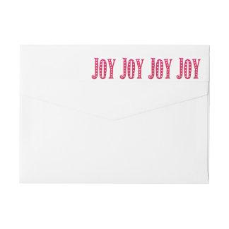 Bande Pour Adresse De Retour Coutume de joie gribouillée par Noël lunatique