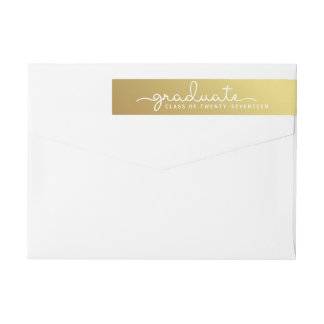 Bande Pour Adresse De Retour Enveloppe de manuscrit marquée avec des lettres
