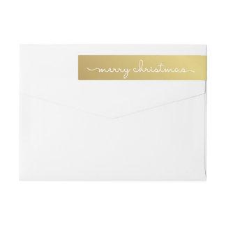 Bande Pour Adresse De Retour Enveloppe marquée avec des lettres par main