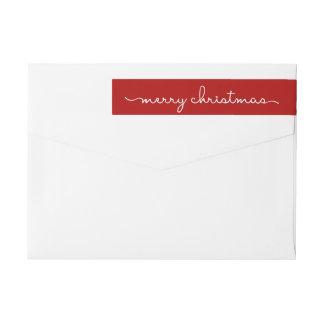 Bande Pour Adresse De Retour Enveloppe marquée avec des lettres par main rouge