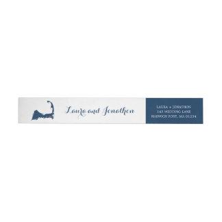 Bande Pour Adresse De Retour Épouser de Cape Cod de port de Harwich de bleu