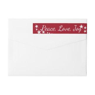 Bande Pour Adresse De Retour Les vacances de joie d'amour de paix tiennent le