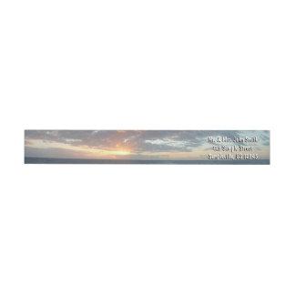 Bande Pour Adresse De Retour Lever de soleil au paysage marin de pastel de la
