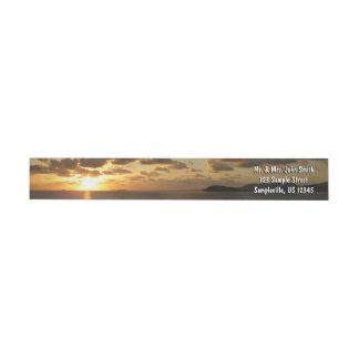 Bande Pour Adresse De Retour Lever de soleil en Îles Vierges américaines de St