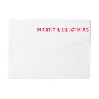 Bande Pour Adresse De Retour Manuscrit audacieux rouge de typographie de Joyeux