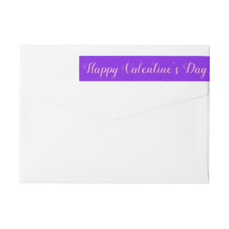 Bande Pour Adresse De Retour Minimaliste de violette de Saint-Valentin