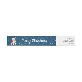 Bande Pour Adresse De Retour Noël Snowbear