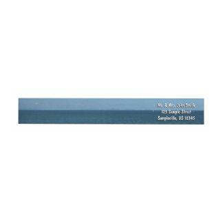 Bande Pour Adresse De Retour Océan de bleu d'horizon du St Lucia