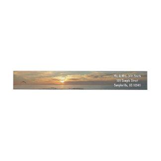 Bande Pour Adresse De Retour Paysage marin du coucher du soleil I la Californie