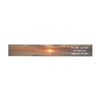 Bande Pour Adresse De Retour Paysage marin du coucher du soleil II la