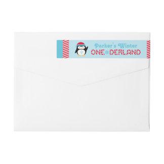 Bande Pour Adresse De Retour Pingouin de l'anniversaire | d'ONEderland d'hiver