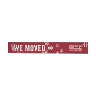 Bande Pour Adresse De Retour Rouge mobile d'adresse de retour de Noël de