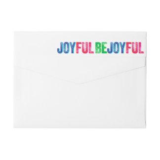 Bande Pour Adresse De Retour Soyez coutume colorée joyeuse d'impression