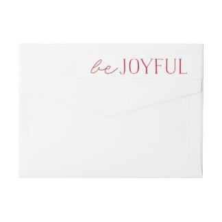 Bande Pour Adresse De Retour Soyez des vacances rouges et blanches joyeuses de