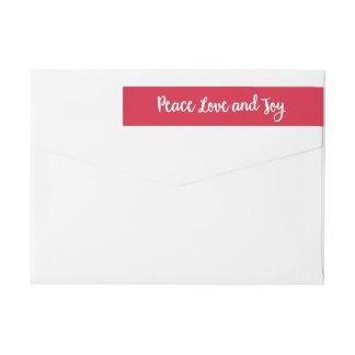Bande Pour Adresse De Retour Vacances d'amour et de joie | de paix