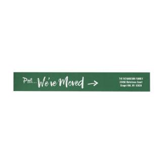 Bande Pour Adresse De Retour Vert mobile d'adresse de retour de Noël de