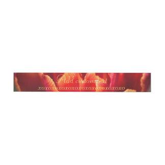 Bande Pour Adresse Photo assez rouge de pétales de tulipe. Ajoutez le