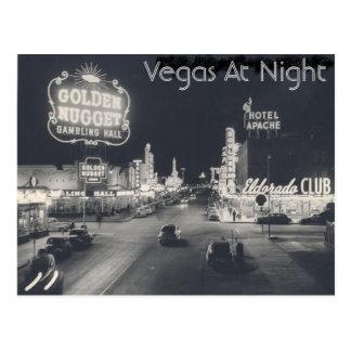 Bande vintage de Las Vegas Carte Postale