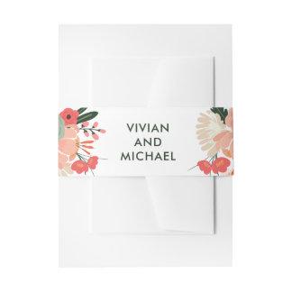 Bandeau De Faire-part Bandes florales de ventre de mariage d'Anya