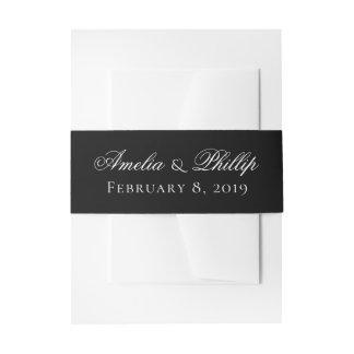 Bandeau De Faire-part Bandes noires et blanches élégantes d'invitation