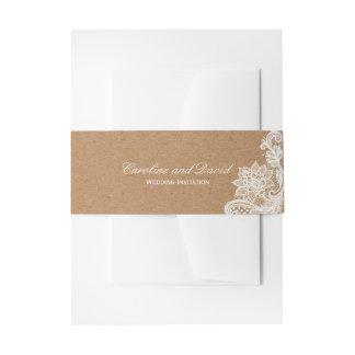 Bandeau De Faire-part Cravate de mariage de dentelle de Papier
